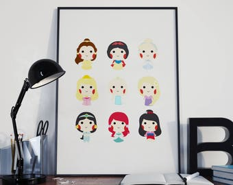 Illustration Poster - Disney Princess