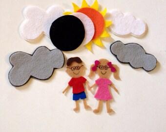 Kids Solar Eclispe Felt Story Board Set