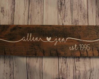 Personalized Sign - Custom Sign - Family Name Sign - Last Name Sign - Wooden Sign - Personalized Gift - Wedding Sign - Custom Wooden Signs