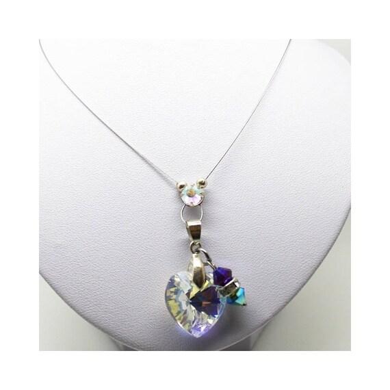 translucent FUSED Swarovski necklace bridal necklace