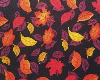 The Mighty but Light Dog Leash Fall Leaves Pattern