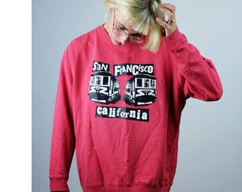 SCREENPRINTED on HAIGHT ST. San Francisco Cable Car Pullover