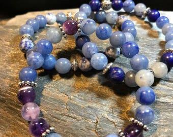 Blue Aventurine Gemstone Woman's Modern Bracelet