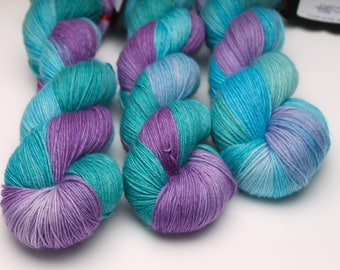 Ready to Ship -  'Obsession' 100g sock weight / Hand dyed yarn / 100% SW Merino or MCN / yarn / crochet / knitting