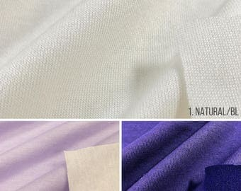 Cotton Blend Double Face Jersey Knit Fabric (Wholesale Price Available By The Bolt) USA Made Premium Quality - 1046PR7 - 1 Yard