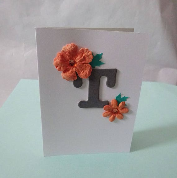 "Monogram/Initial Card - Letter ""T"""