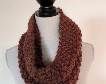 "Snood ""Cocoon"" chocolate, warm and cozy"