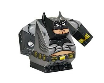 Batman - Paper Toy Batman - DIY Paper Craft Kit - 3D Paper Figure Batman