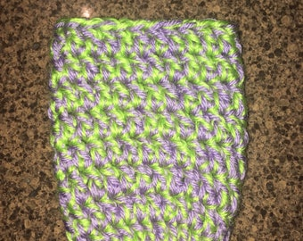 Crochet Cozy (Lilac and Green)