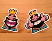 Clash Royale King Emote Die Cut Sticker Pack
