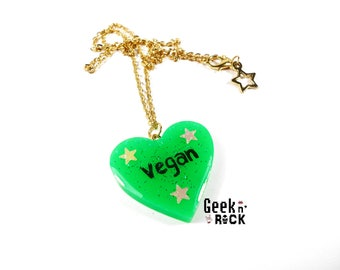 VEGAN vegetarian vegan VEGGIE VG necklace