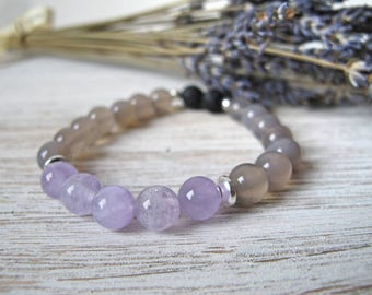 Essential Oil Diffuser Bracelet, Aromatherapy Jewelry, THE MAYBEL, Gift for Her, Stretch Bracelet, Diffuser Jewelry, FoxAndBearEssentials