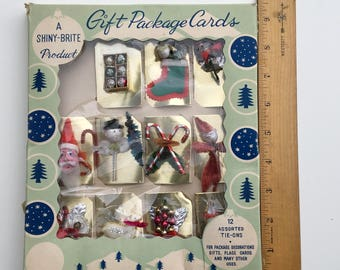 Shiny Brite Vintage  Christmas Ornaments Mini 1960s