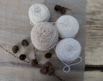 Handmade, handspun Angora wool yarn for knitting, soft Angora wool yarn