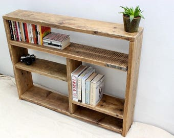 Rustic Planked Bookcase, Shelving