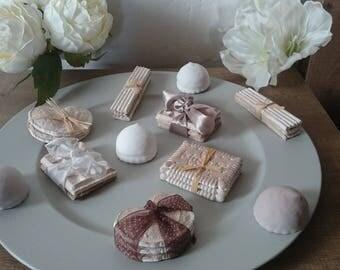 Tray of sweets/treats plaster for shabby decor