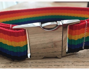 Walking with rainbows -Unique stunning Dog collar for your beloved freind
