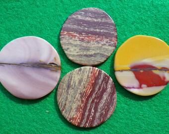 Australian Jasper Combination, set of four golf ball markers