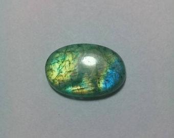 Green Rainbow Moonstone Cabochon