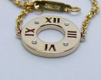 SALE!!! Tiffany & Co 18kt yellow gold Atlas diamond bracelet