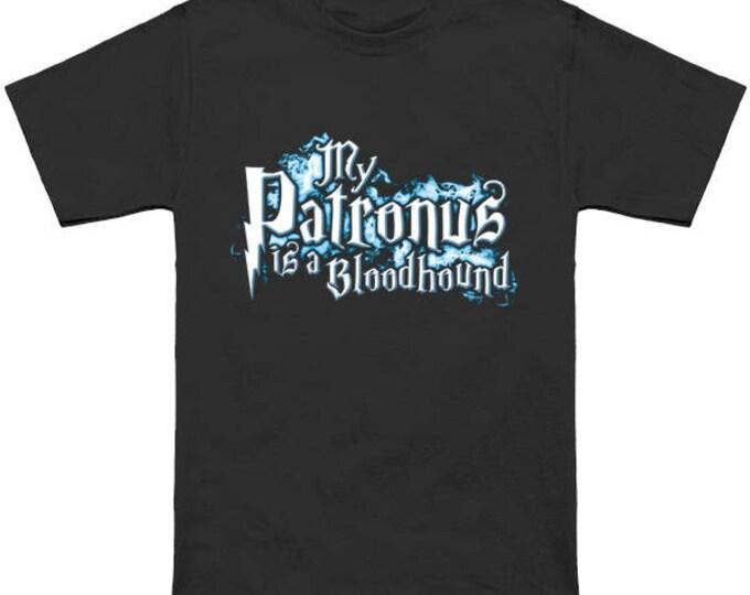 My PATRONUS Is A BLOODHOUND Custom T-Shirt Magic Animal Charm Fantastic Beasts Wizard Spell Fantasy Shirt