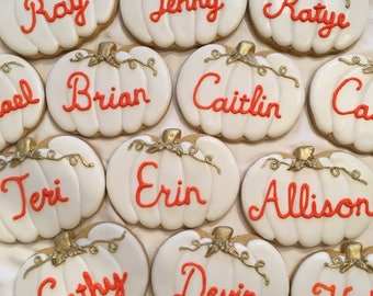 Pumpkin name cookies