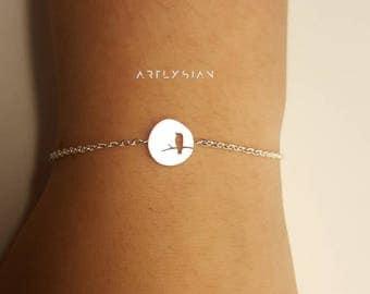 Bird bracelet, swallow bracelet, dove bracelet, dainty bird bracelet,bird charm bracelet, dainty bird,mother bird bracelet charm