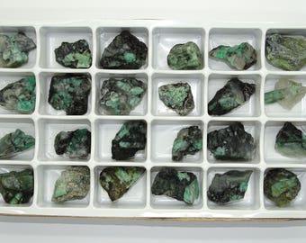 Bulk Rough Emerald Specimens   Brazil #2B- 24 PCS.- BEST PRICE!