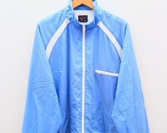 Vintage NIKE Small Logo Sportswear Blue Windbreaker Jacket Size XL
