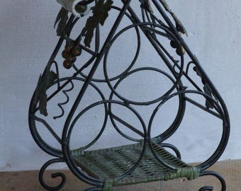 Vintage French  Wine Rack // Wine Store 3 places //