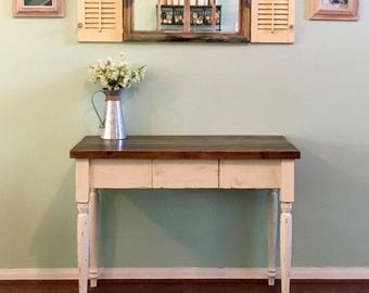 Farmhouse Desk with Center Drawer