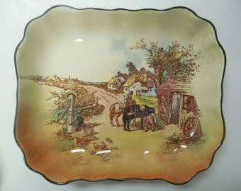 Vintage Royal Doulton Rustic England Blacksmith Dish D6297 from 1940s