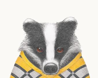 Winter Woollies Badger Print - Made to Order