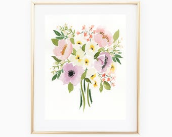Spring Bouquet - 11x14 Original Watercolor