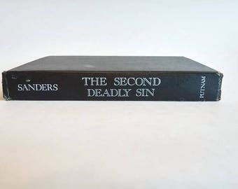 The Second Deadly Sin by Lawrence Sanders  Hardcover  Crime Thriller