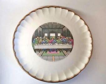WS George Last Supper Plate  22k Gold