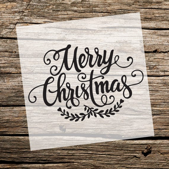 This is an image of Astounding Merry Christmas Stencil Free Printable