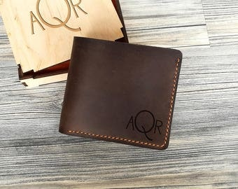 Mens Leather Wallet, Valentine's Gift for Him, Husband Birthday Gifts, Leather Wallet Mens Personalized, Mens Gift Ideas, Gift for Boyfriend