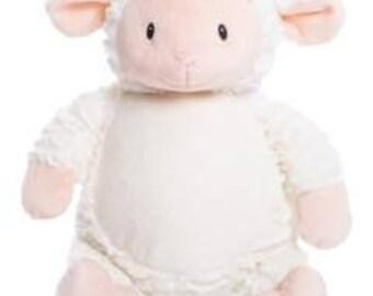 Personalized Lamb Stuffed Animal
