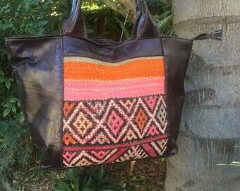 Morrocan leather bag vintage