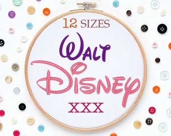12 Sizes Disney Embroidery Font XXX Format Embroidery Machine,Initials Monogram,Monogram Design,Instant Download