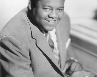 Fats Domino Sits at Piano - 5X7, 8X10 or 11X14 Publicity Photo (AA-225)