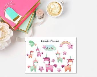 Unicorn Planner Stickers