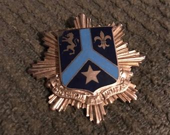Military shield pin