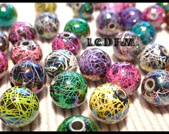 * ¤ Set of 12 strands beads * various colors * acrylic - 12mm ¤ * #P33