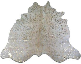 gold metallic cowhide rug size 8 x 7 ft gold metallic cow hide rug e