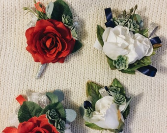 handmade corsage and boutonniere