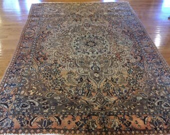 Persian rug semi antique very nice hand knotted wool 6.5 x 9.5