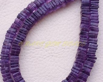 """38% OFF Natural Amethyst Square, Purple Amethyst Smooth Heishi Cut Square Beads, 6 MM Size, 16"""" Strand, Loose Gemstone Beads, Best Quality"""