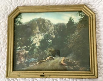 Framed Landscape Print Art Deco